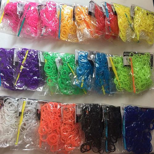 rainbow loom pulseira de borracha - kit refil 2200 elásticos