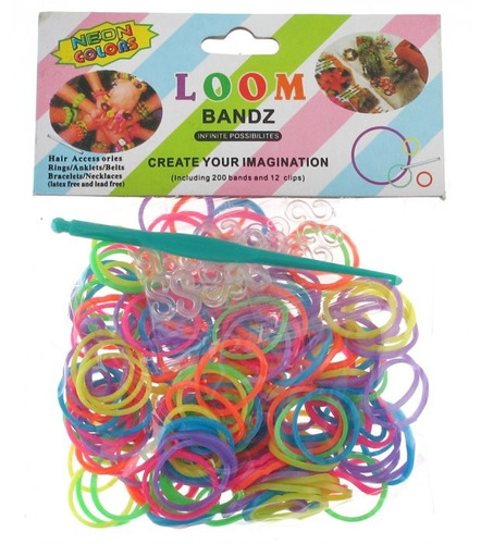 rainbow loom- refil pulseira - 800 elasticos.
