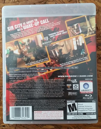 rainbow six vegas - ps3 - playstation 3