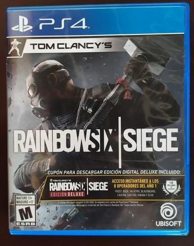 rainboxsix / siege  ps4 edición deluxe en físico