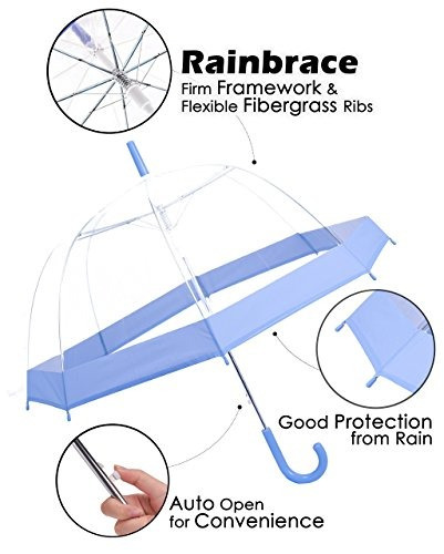 73dad37d430e Rainbrace Clear Bubble Umbrella Auto Open Version Actualizad