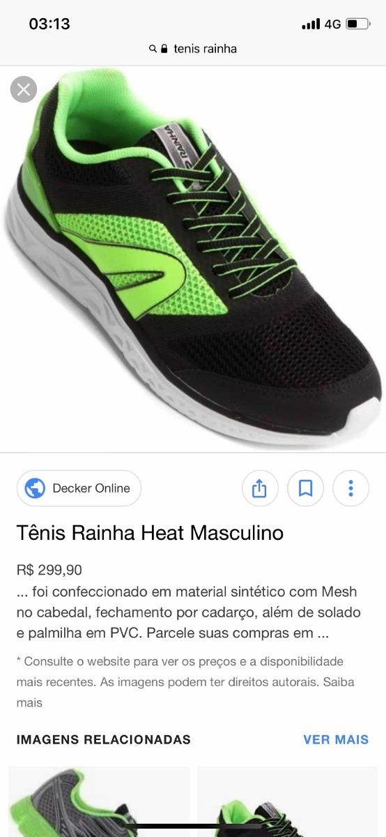 19525a66e3c09 Tênis Rainha Para Academia Heat Masculino Promoção - R  99