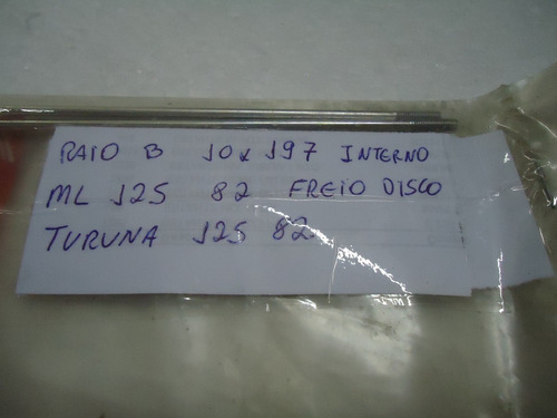 raio b 10 x 197 interno ml / turuna 125 freio disco original