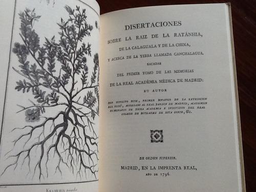 raíz ratanhia de calaguala yerba canchalagua - hipólito ruiz
