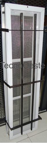 raja aluminio blanco repartido 30x110 c/vidrio reja mosq