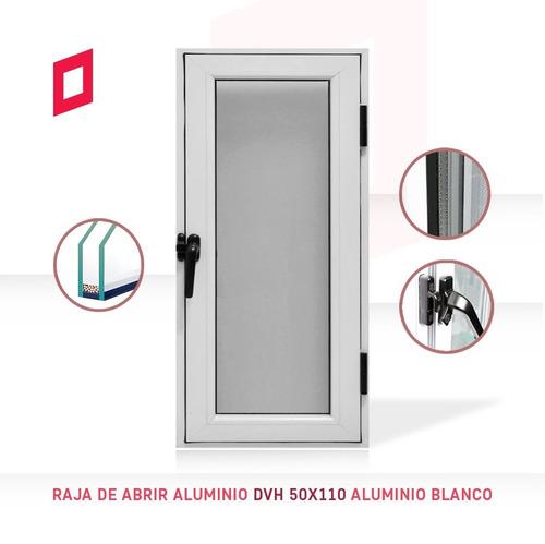 raja de abrir aluminio dvh 50x110 aluminio blanco