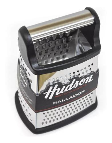 rallador acero inoxidable 4 caras antideslizante hudson