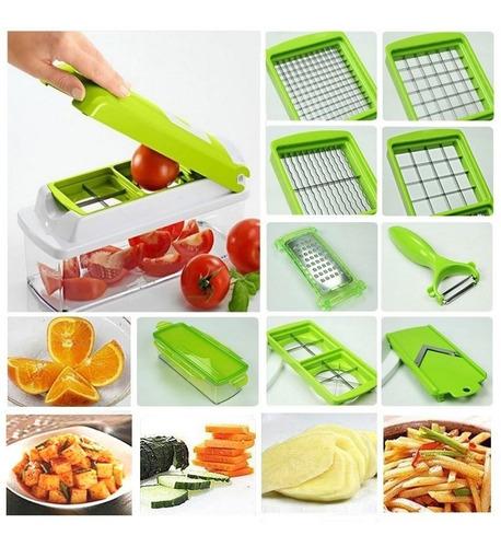 rallador cortador multiple mandolina acero verduras y frutas