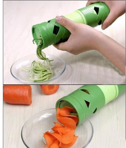 rallador de verduras 2 en 1 en espiral y en helice