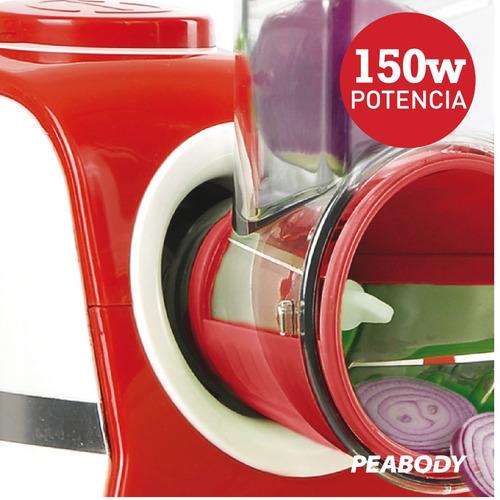 rallador eléctrico 5 cuchillas de corte peabody pe-vc02