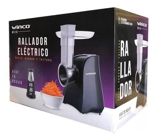 rallador electrico verduras queso triturador rebanador winco