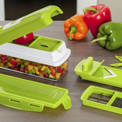 rallador verduras picador cortador pelador multifuncional versátil nicer  rebanador con contenedor manual slicer