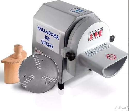 ralladora de queso 9 kg/h electrica