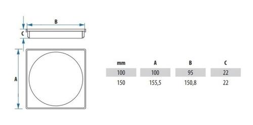 ralo click 10x10 com porta cromado de inox kit inteligente