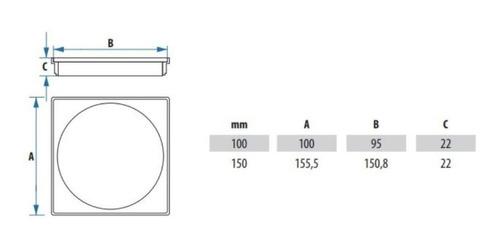 ralo click inteligente e porta grelha cromado 10x10 kit 1 pç