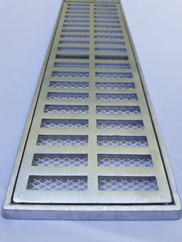 ralo grelha pluvial 15x50 aluminio + tela anti insetos
