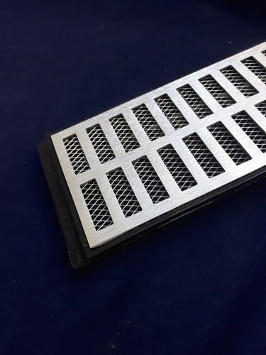 ralo grelha pluvial 15x50 + coletora saída lateral + tela