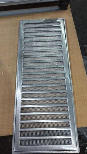 ralo grelha pluvial 20x50 aluminio  aro e tela anti inseto