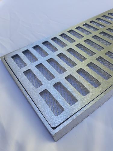 ralo grelha pluvial 20x50 aluminio + tela anti insetos