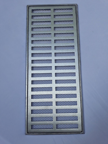 ralo grelha pluvial 20x50 com aro e tela anti inseto