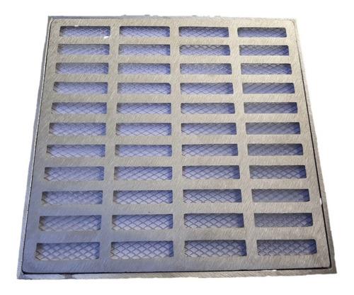 ralo grelha pluvial 30x30 aluminio + tela anti insetos
