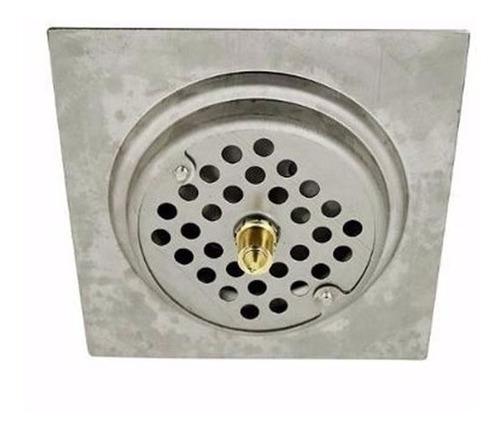 ralo inteligente click para banheiro 10x10 cm inox