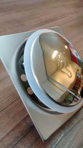 ralo inteligente p/ piso em inox - modelo click 10x10cm