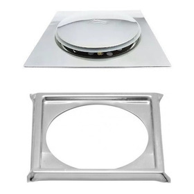 Ralo Inteligente Pop Up Click 15x15 Cm Clic Inox 1,3mm + Porta Grelha