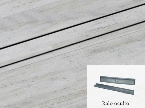 ralo invisivel linear 50cm oculto de inox saida central 50m
