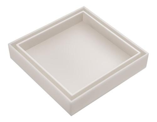 ralo invisível oculto branco com tela de retenção