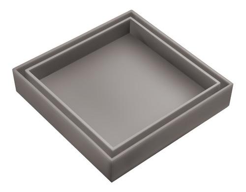 ralo invisível oculto cinza com tela de retenção