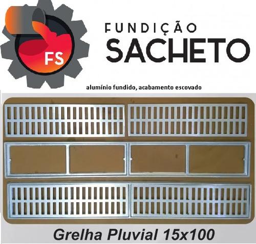 ralo linear alumínio 15x100cm  ideal para borda de piscinas!