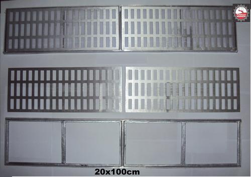 ralo linear de liga especial de alumínio fundido 20x100 cm