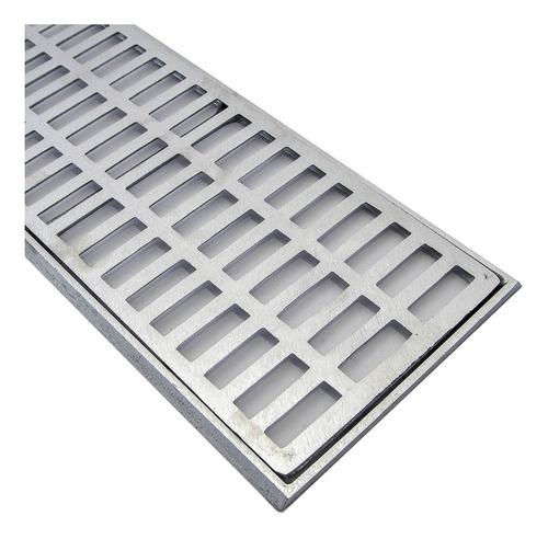 ralo linear grelha alumínio 20x100 aluminio fundido
