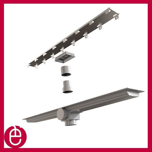 ralo linear smart 70cm sifonado com tampa oculta
