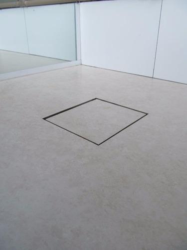 ralo linear square fit tampa oculta pvc 15x15 cm