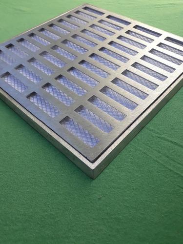 ralo pluvial 25x25 reta em alumínio com tela anti insetos