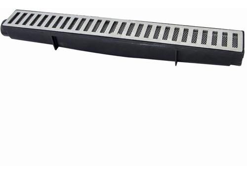 ralos linear seca piso 6x50 cm grelha em alumínio fundido