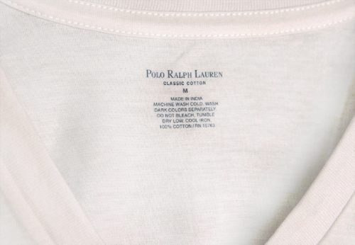 cf70c6b35a21a Ralph Lauren   Camisa Básica Masculina Branca Gola V Tam P - R  50 ...