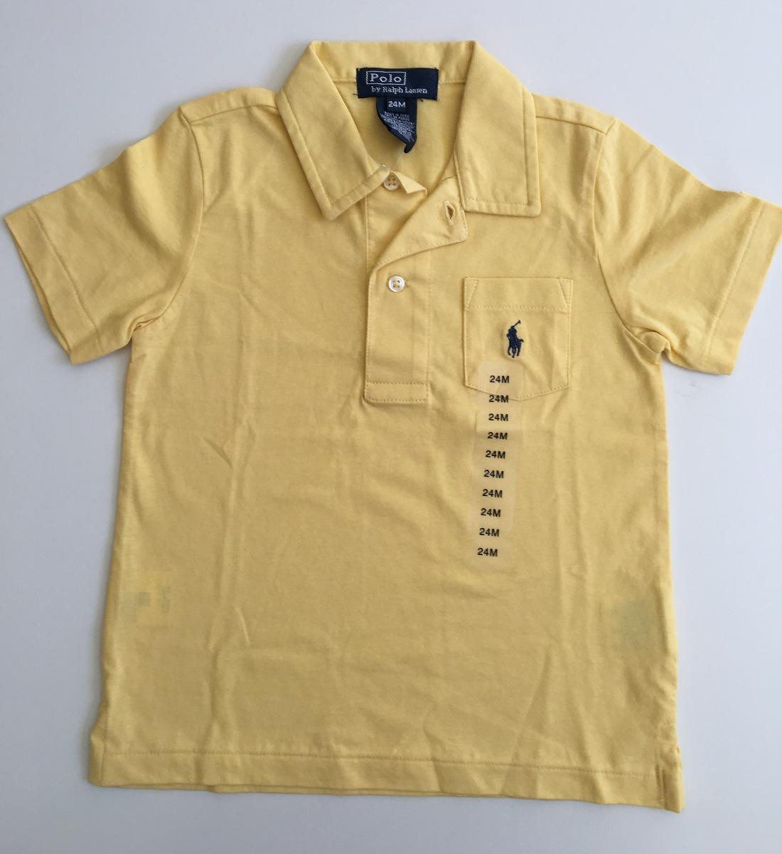ralph lauren camisa polo m c malha amarela 24m nova c etiq. Carregando zoom. 3a14a382f78
