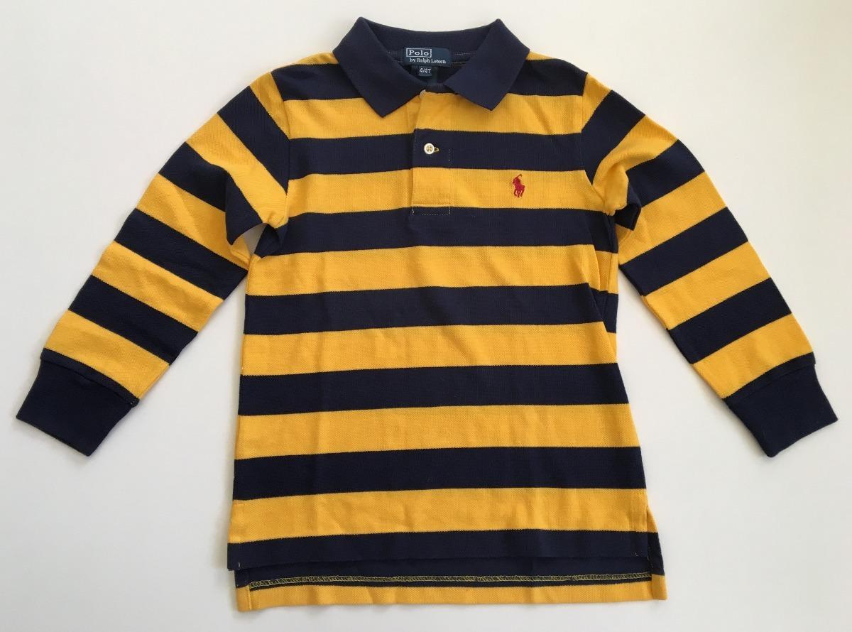 ralph lauren camisa polo menino listrada m longa tam.4t nova. Carregando  zoom. 06abd3fca07