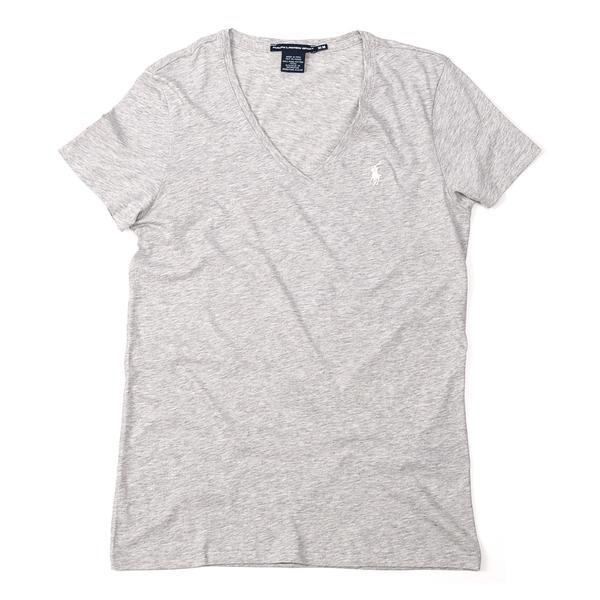 e677d1a76f Ralph Lauren - Camiseta Básica Gola V - Cinza Claro Médio - R  85