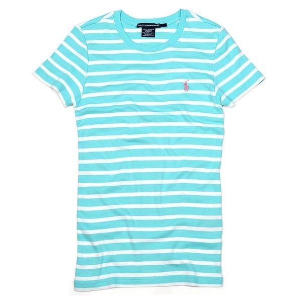 Ralph Lauren - Camiseta Listrada Feminino Médio - R  85 0b08376ef8a