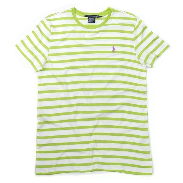 99cdc22bd9 Ralph Lauren - Camiseta Listrada Verde Clarinha - Feminino - R  85 ...