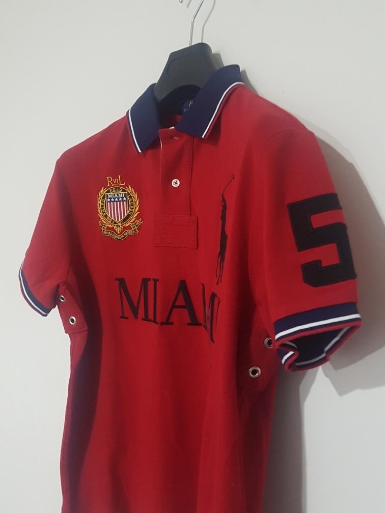 2ae39f38dcd97 Playera Polo Ralph Lauren Alusiva A Miami Custom Slim Fit ...