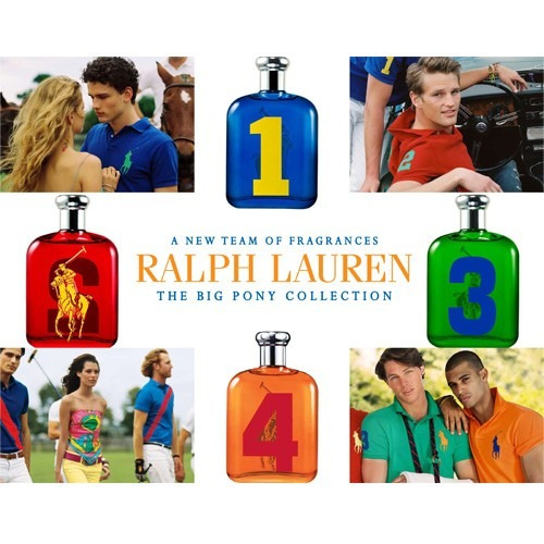 ralph lauren polo big pony 1 blue edt 125ml original tester