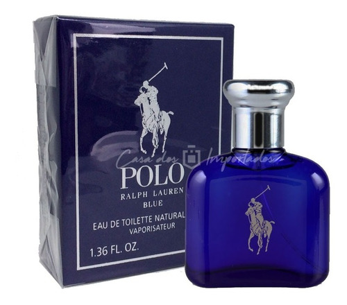 ralph lauren polo blue ( azul ) 40ml | original + amostra
