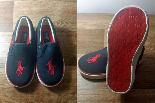 ralph lauren - sapato azul marinho - 22/23 - importado