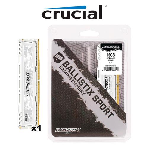 ram crucial ballistix sport lt 16gb 1x16gb ddr4-2400 dual