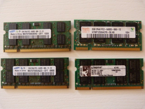 ram ddr2 de 2gb notebook frecuencias 800